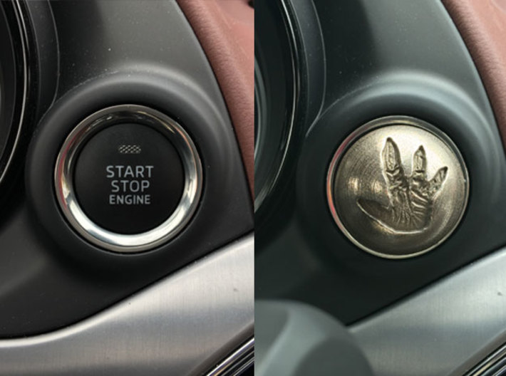 MAZDA Engine Button | Total Recall Reactor 3d printed