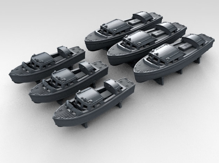 1/350 RN WW2 25ft & 35ft Fast Motor Boats (3 each) 3d printed 3d render showing product detail