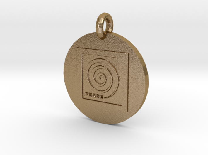Peace Spiral B2 Pendant 3d printed