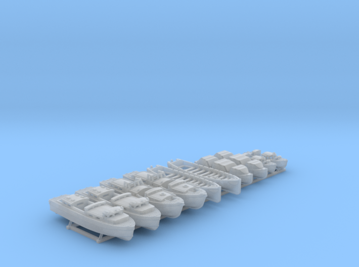 1/600 WW2 Royal Navy Boat Set 3 without Mounts 3d printed 1/600 WW2 Royal Navy Boat Set 3 without Mounts