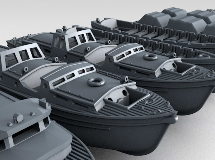 1/700 WW2 RN Boat Set 3 without Mounts 3d printed 3d render showing product detail