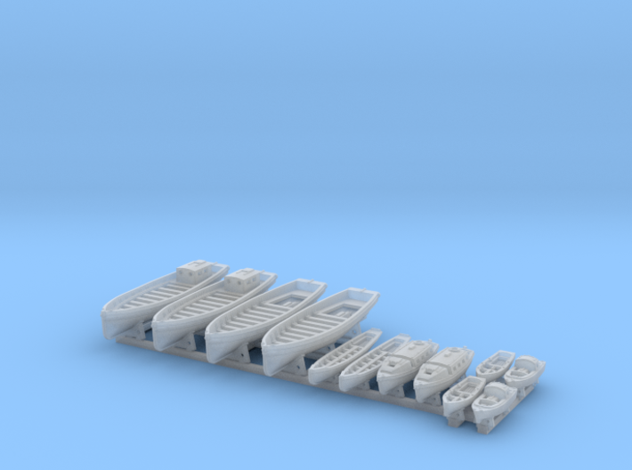 1/700 WW2 RN Boat Set 2 with Mounts 3d printed 1/700 WW2 RN Boat Set 2 with Mounts