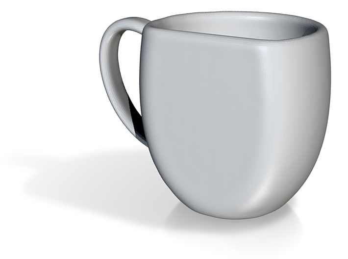 Celadon Selfies Right Espresso Mug (Right Handle) 3d printed