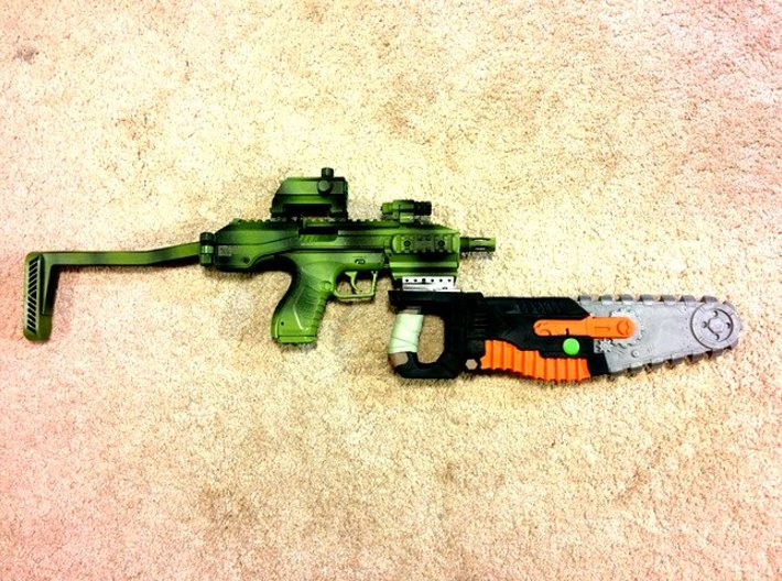 Picatinny to Nerf Adapter (3 Slots) 3d printed