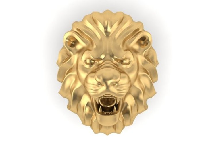 Lion ring Size 10.5 3d printed