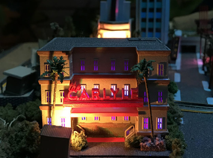 City Apartment Building 3 Z Scale 3d printed Customer finished Building  scale
