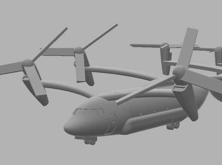 1:700 CH-66 Osage Boeing Quad Tiltrotor 3d printed Closeup render of the CH-66