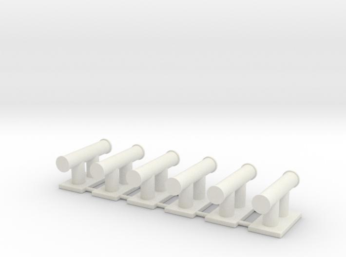 TEMPEST bollard aft (6pcs) 3d printed