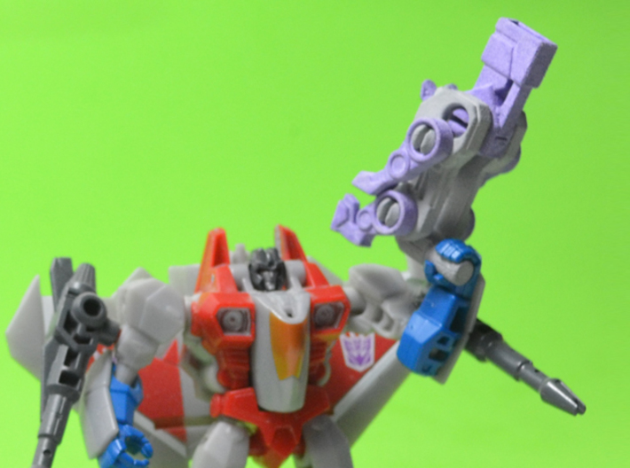 Dobergun Blitzer Transforming Weaponoid Kit (5mm) 3d printed White strong and flexible print, hand painted. (Transformers figure not included)