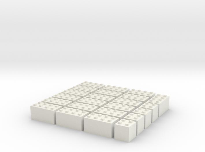 1/87 HO Bausteine fuer Schuettgutboxen, 19+4 3d printed