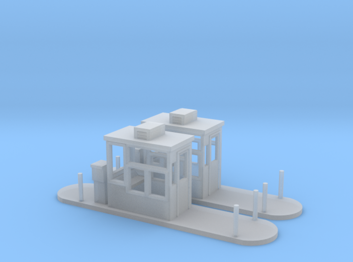 Toll Booths HO Scale 3d printed 2 parking booth HO scale