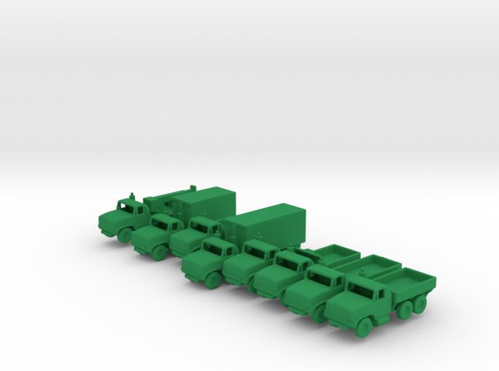 1/285 Scale Oshkosh MTVR Truck Set Of 8 3d printed