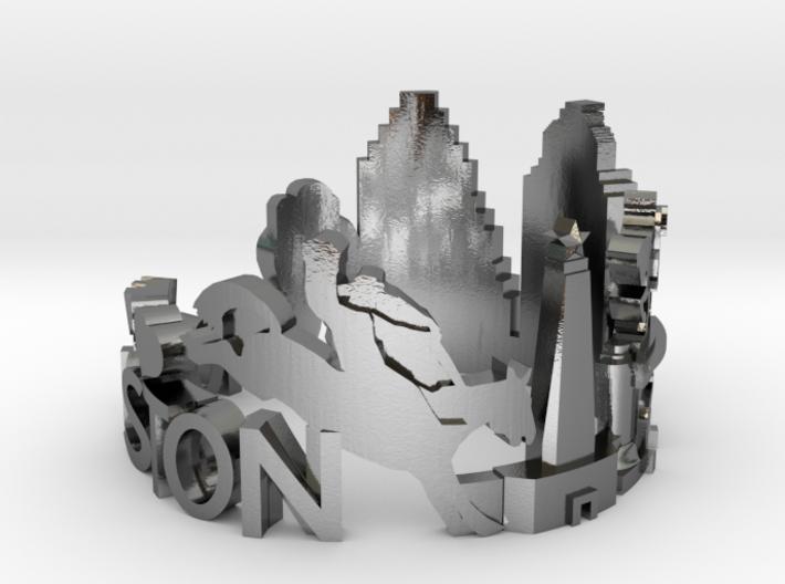 Houston Skyline - Cityscape Ring 3d printed