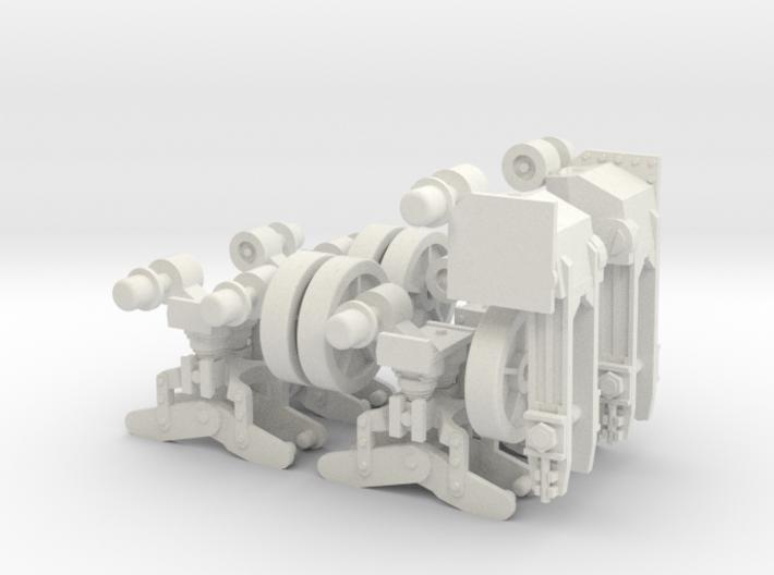 1:16 USA M5A1 Working Wheels 3d printed