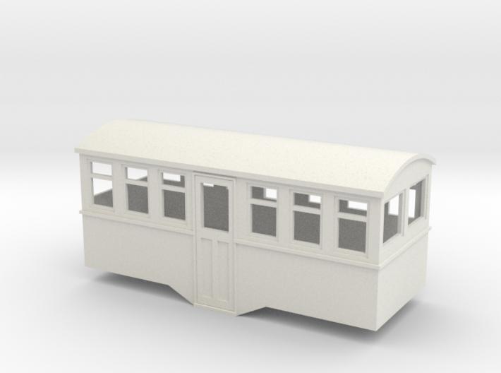 HOe railcar trailer center entrance 3d printed