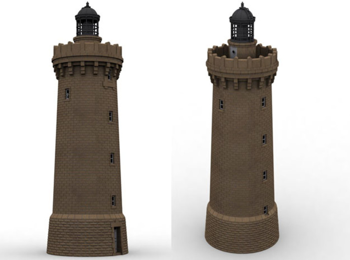 HOpb40b - Large brittany lighthouse 3d printed