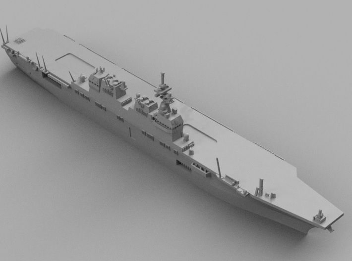 1/2000 JS Hyūga-class helicopter destroyer 3d printed Computer software render