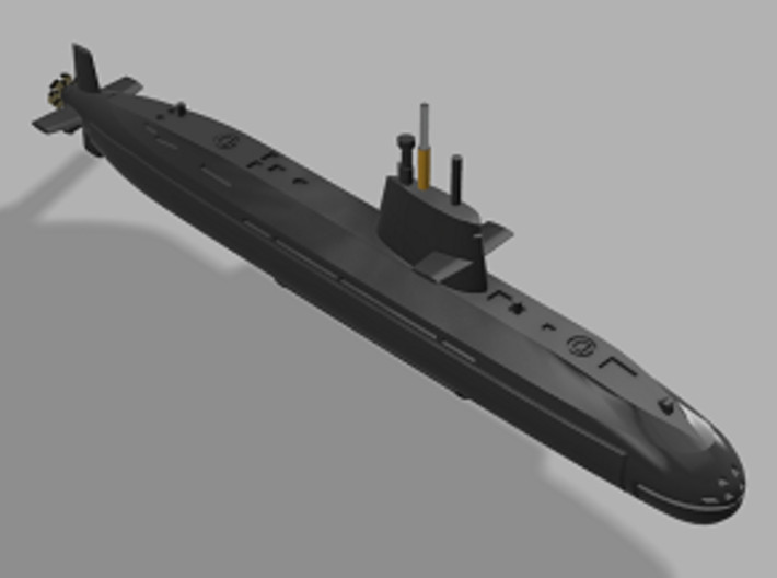 1/2000 JS Oyashio-class submarine 3d printed Computer software render
