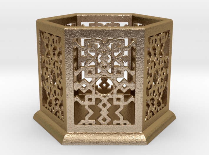 Geometric Candle Lamp 3d printed