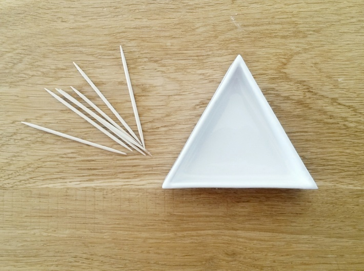 Triangular Plate Small 3d printed