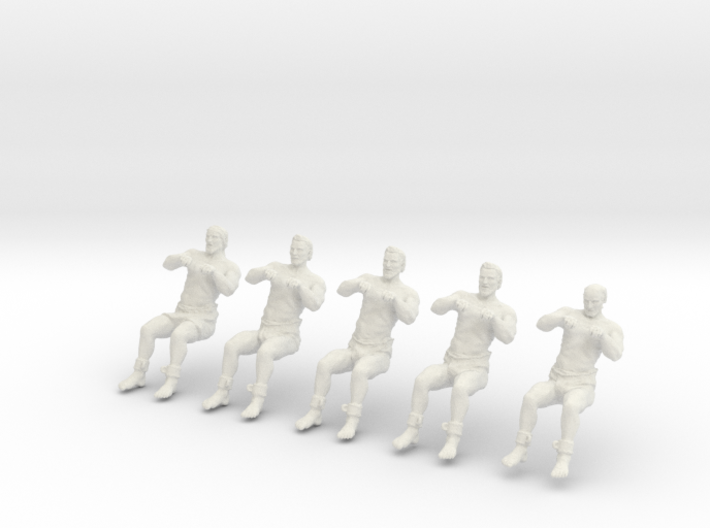 1-30 FIVE ROWERS LEFT SET6 3d printed