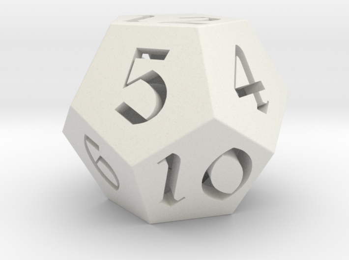 12 side fantasy style dice 3d printed