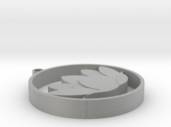 Lotus necklace 3d printed