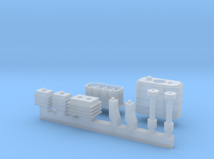 1/700 Ersatz Yorck Parts Set E 3d printed