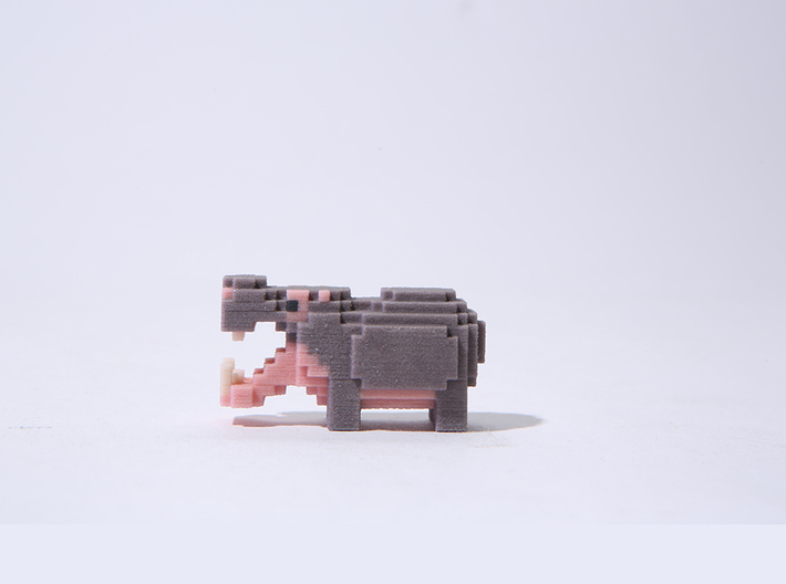 Pop Hippo 3d printed