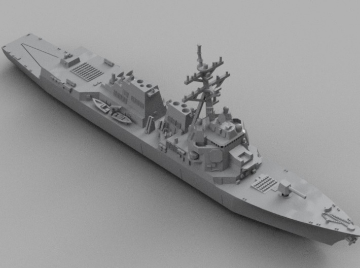 1/1800 USS Michael Murphy 3d printed Computer software render