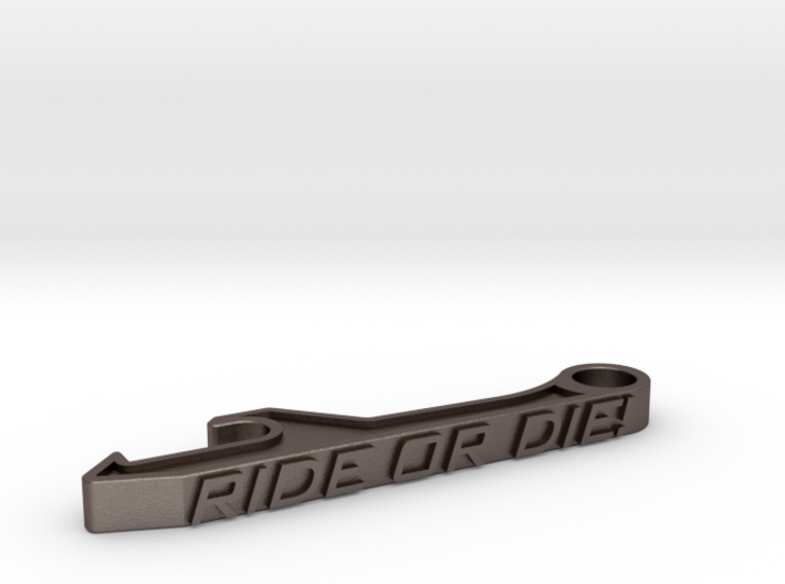 Ride Or Die Bottle Opener Keychain - Standard 3d printed