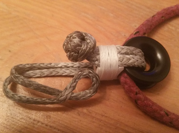 Sugarcube 10009 ø30  3d printed Purpose example as soft shackle open condition