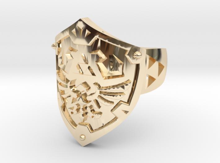 Hylian Shield [Size 10] Precious Metals Edition 3d printed