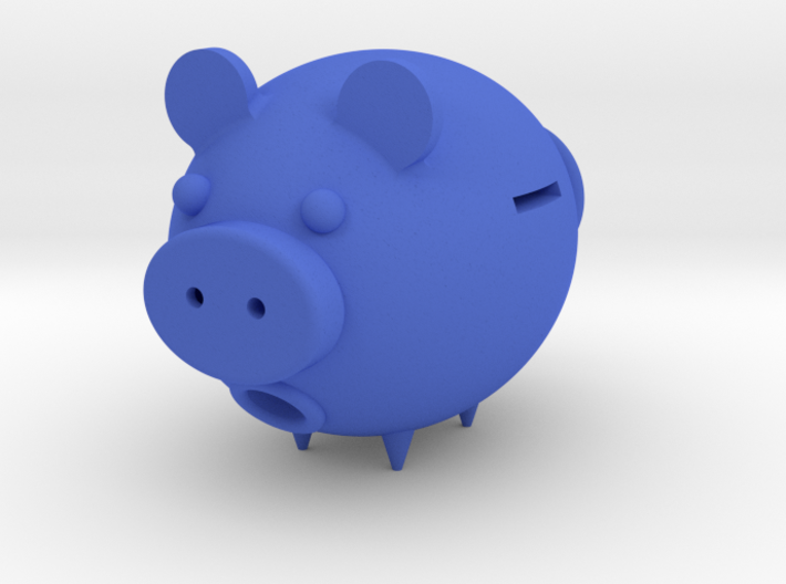Pig–type savings deposit 3d printed