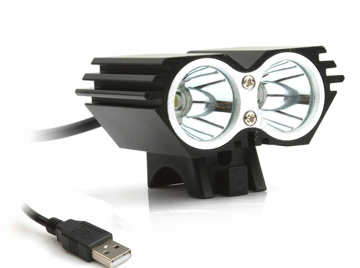 V1.1 GoPro bike headlamp mount 3d printed Example of a Solarstorm X2 series of lights - compatible.