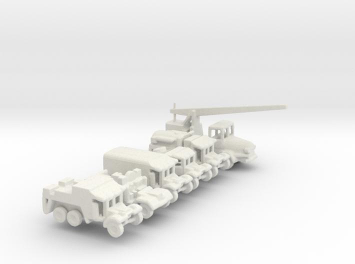 1/200 Scale Coles Mk 7 Crane And Morris Truck Set 3d printed