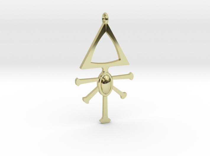 Eldar Rune Pendant 1 3d printed