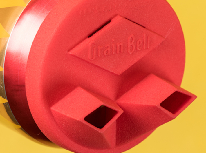 Grain Belt Dual Pour Can Topper 3d printed Dual Vent Technology