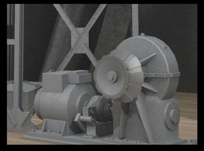 1/144 IJN Electric Deck Winch 3d printed