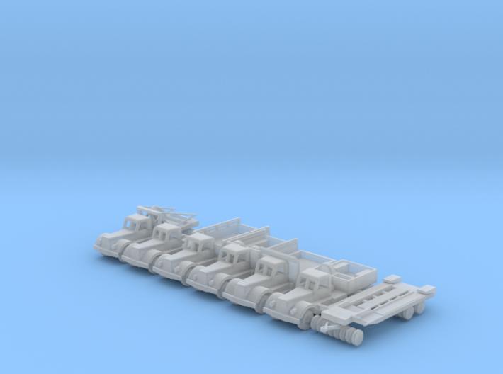 1/144 Scale Diamond T Truck Set 3d printed