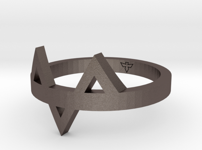 Offset Ring Sizes 6-10 3d printed