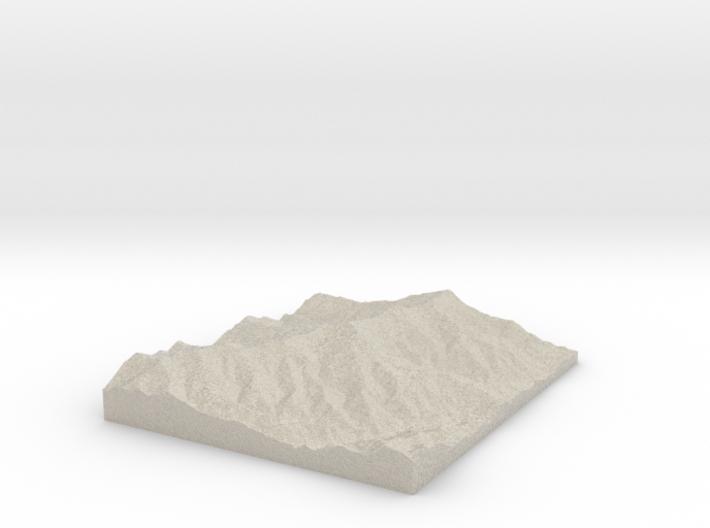 Model of Commissary Ridge 3d printed