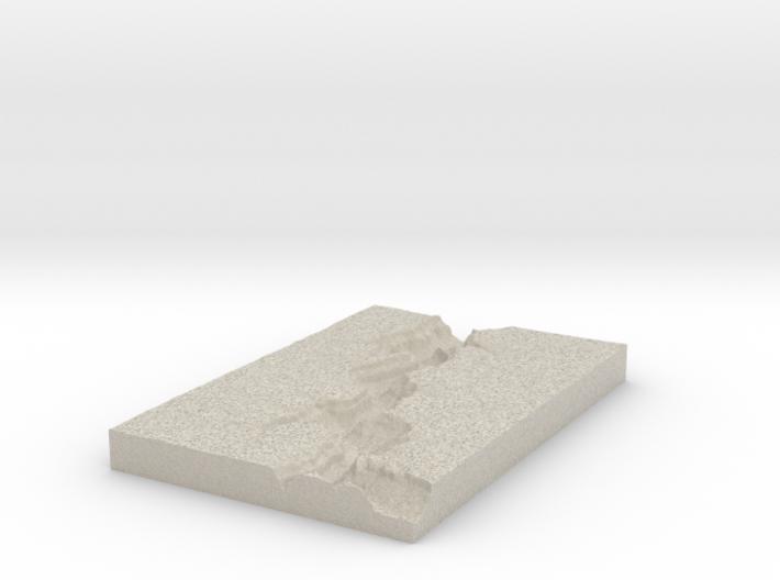 Model of Sinyella Spring 3d printed