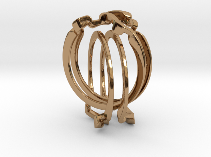 Holistic Ring interlocking metal 3d printed