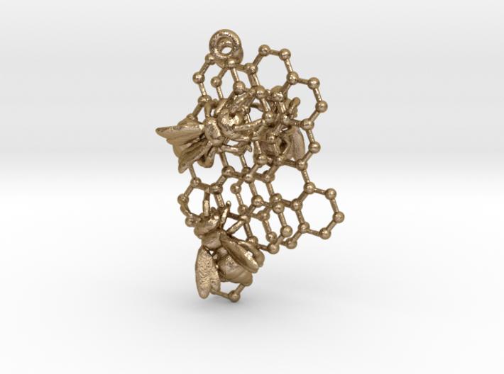Honeycomb Earrings 3d printed