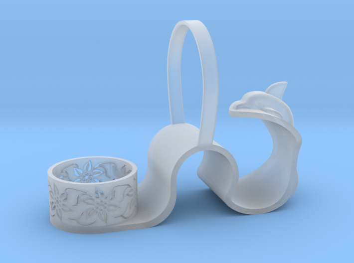 Sea and land candlestick 3d printed
