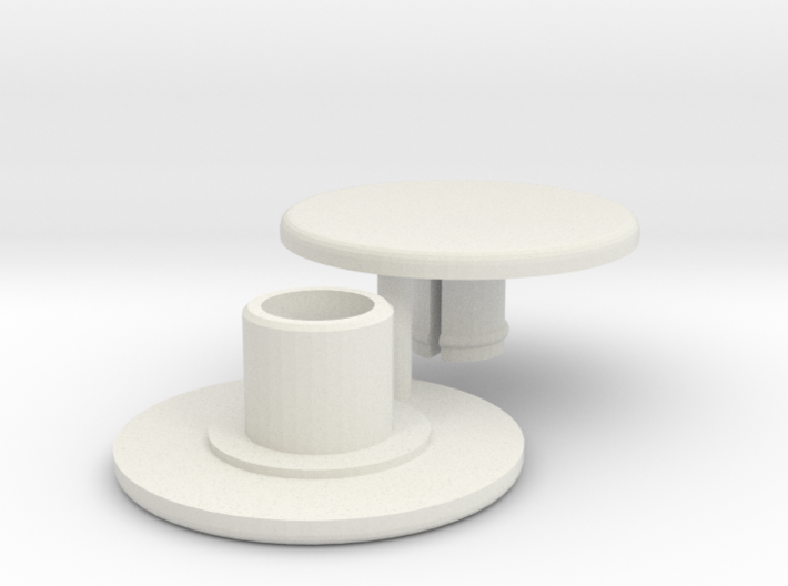 Bearing Cap for Fidget Spinner - Skateboard Size 3d printed