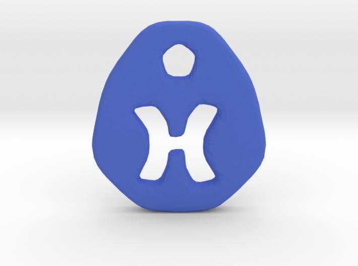 Pisces Zodiac Symbol Tag 3d printed