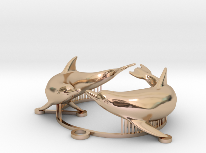 dolphin medal 3d printed
