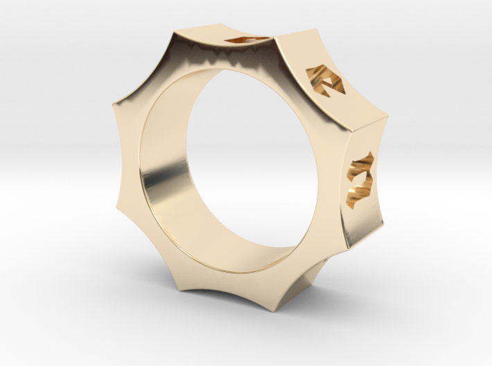 Octagon Ensemble Ring 3d printed